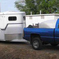 slant horse trailer